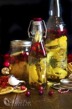 Домашнее Рождество специи Заряженных водки и ликер с свежей клюквой!  #christmas #holidays #cocktail #glutenfree #drink #recipe