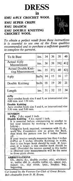 FAB 1970s Crochet Dress Pattern PDF T143 by HeirloomPatterns