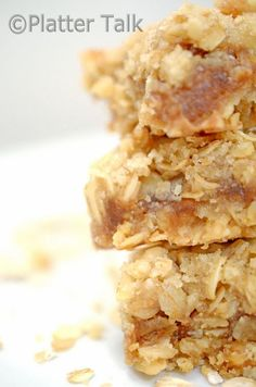 Oatmeal and Apple Butter Bars - Platter Talk - I made apple butter this year so this is exciting