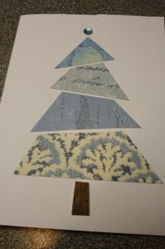 Christmas Cards using paper scraps