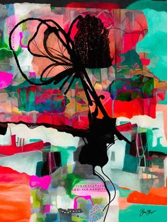 Mixed media, collage and abstract art by Gina Startup