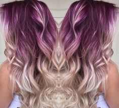 Purple with blonde