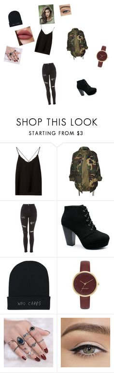 """Untitled #69"" by mummlis ❤ liked on Polyvore featuring beauty, Massimo Dutti, Topshop and Nine West"