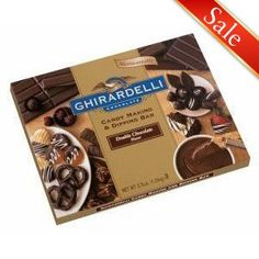#GhirardelliChocolate Double Chocolate Flavored Candy Making and Dipping Bar Sometimes I don't want to temper chocolate for dipping or need something I don't have to worry about blooming. This tastes like couverture and coats like a dream.