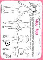 Paper doll ou poupées de papier l Paper toy - Tête à modeler