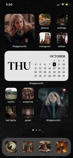 harry potter hermione ios 14 layout