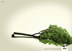 Deforestation in china threatens giant pandas. The Most Powerful Ads Of The World Wildlife Fund Creative Advertising, Advertising Poster, Social Advertising, Ads Creative, Advertising Campaign, Advertising Design, Deforestation Poster, Wwf Poster, Save Wildlife