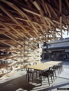 Unique Design For Starbucks // Kengo Kuma | Afflante.com