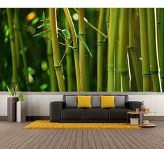 Bamboo Garden Repositionable Wall Mural. Custom Removable Wall Murals & Wall Paper. https://www.etsy.com/listing/204906032/bamboo-garden-repositionable-wall-mural?ref=shop_home_active_5 #interiordesign #homedecor #wallmural #wallpaper #bamboo