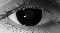FDA Approved - Halloween Conctact lenses - Black Out Contacts - Black Out Vampire Theatrical Lens