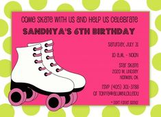 Free Roller Skate Invitation Template | Free Roller Skating Birthday Party Invitation Ideas | New Party Ideas