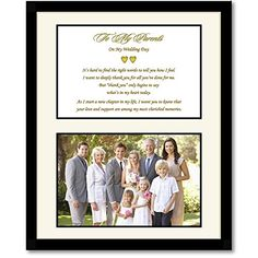 7x15 MY WALK WITH DAD Poetry & Photo ~ BLACK Frame Cream Mat ~ GIFT for FATHER of the BRIDE