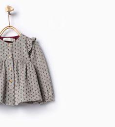 Image 1 of Frills shirt from Zara Frill Shirt 54b4fa54e1a