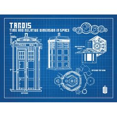 Tardis print poster dr who blueprint the tardis blueprint art of found it at wayfair doctor who tardis blueprint graphic art poster in blue gridwhite ink malvernweather