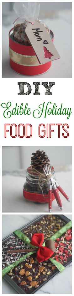 Check out my favourite DIY Edible Holiday Gifts – Spiced Almonds, Orange Olives & Chocolate Bark!