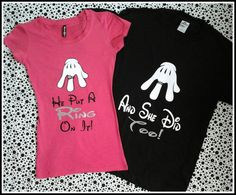 2 Day Priority Shipping Disney Inspired Couples TShirt/Engagement Tshirts Taken He Put A Ring On It Shirt on Etsy, $30.00