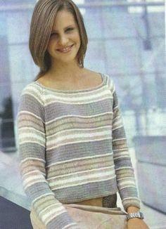 Модель№3 Полосатый пуловер