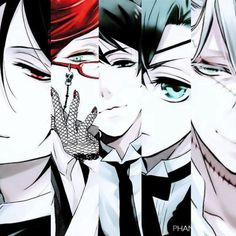 Half of people their faces, I See Sebastian, Grell, Uhm.., Ciel & Th e Understaker.. - Kuroshitsuji ~ DarksideAnime