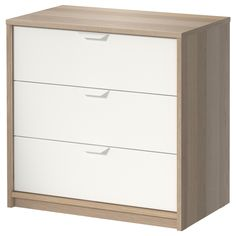 IKEA - ASKVOLL, 3-drawer chest, , Smooth running drawers with pull-out stop.