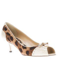 Dolce & Gabbana Open Toe Pump