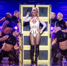 Britney Spears from The Big Picture: Today's Hot Pics  The pop princess returns to the stage for her 'Piece Of Me' show at at Planet Hollywood Resort in Las Vegas.