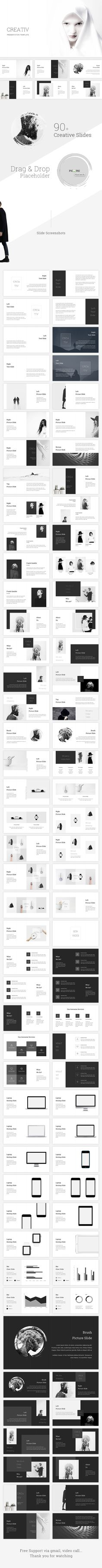 Creative #Keynote Template - Creative Keynote #Templates Download here: https://graphicriver.net/item/creative-keynote-template/19368634?ref=alena994