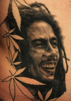 Bob Marley Man, Kool, Tattoo by Andy Engel