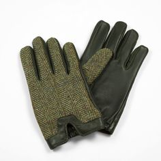 DENTS - Cashmere-lined English hunting gloves.