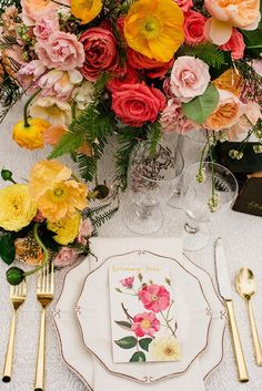 fun wedding ideas - photo by Sarah Maren Photography http://ruffledblog.com/spring-blooms-wedding-inspiration