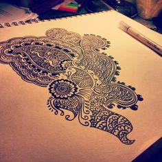 henna designs drawings on paper - Google Search