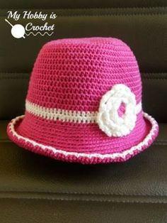 Toddler Cotton Sun Hat - Free Crochet Pattern | My Hobby is Crochet
