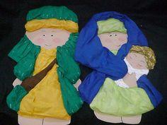 Natividad en Papel Creppe