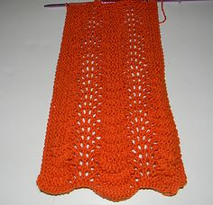 Easy but difficult looking scarf pattern!