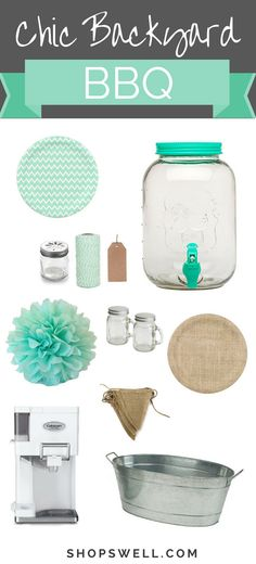 Celebrate summer with this great list of shabby chic decor for your picnic or outdoor BBQ.