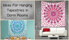 Wonderful Innovative Ideas For Hanging Tapestries in Dorm Rooms - Hippie Mandala Wall Tapestries, Mandala tapestries as bedspreads in bedrooms