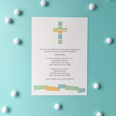 An exquisite First Communion Card