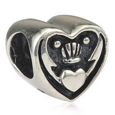 Claddagh Celtic Irish Claddagh Friendship and Love Authentic Sterling Silver Beads | Jewelry Mall