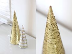 Gold and silver in the Christmas decoration.