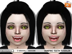 The Sims Resource: Vampire Teeth Toddlers by MahoCreations • Sims 4 Downloads