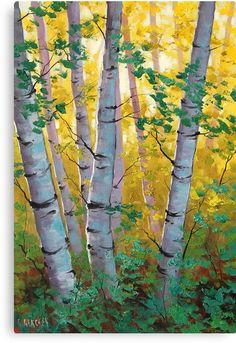 Australian Impressionist Landscape painter-Graham Gercken 1960 - Fine Art and You - Painting Impressionist Landscape, Landscape Art, Landscape Paintings, Tree Paintings, Landscapes, Birch Tree Art, Oak Tree, Tree Canvas, Fall Canvas