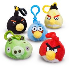 Plush Angry Birds Backpack Clip On - Green in September 2012 from Birthday Express on shop.CatalogSpree.com, my personal digital mall.