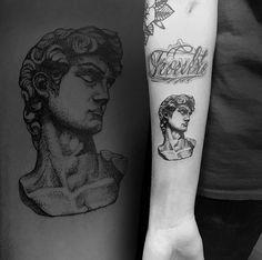 Michelangelo's David by Cuttlefish Tattoo