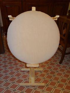Bolillos y algo màs: Como hacer una almohadilla (o mundillo) redonda??