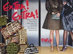 Louis Vuitton handbags and luggage featuring Stephen Sprouse graffiti print, photographed by Raymond Meier for Vogue, January 2001 Raymond Meier, Graffiti Prints, Cool Hats, Custom Embroidery, Fashion Images, Louis Vuitton Handbags, Fashion History, On Shoes, January