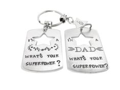 Check out Mom Dad Superpower Keychain Custom Initials Kids Names SuperMom SuperDad Grandparents Aunt Uncle Godparents Personalised Keychain on glitterazzijewels Best Friend Gifts, Gifts For Friends, Gifts For Mom, Graduation Jewelry, Phd Graduation, Graduation Gifts, Cheerleading Gifts, Super Dad, Hand Stamped Jewelry