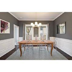 Gray walls, white wainscoting - YES
