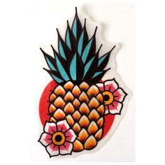 #tattoo #tattoos #tattooed #tattooing #tattooitalia #italiantattooartist #boldtattoos #classictattoo #oldschooltattoo #traditionaltattoo #traditionalflash #flash #ink #ananas #pineapple #available