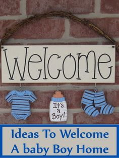 Ideas Baby Boy Shower Themes Babyshower Signs For 2019 Welcome Home Decorations, Baby Shower Decorations For Boys, Boy Baby Shower Themes, Baby Boy Rooms, Baby Decor, Baby Boy Shower, Wall Decorations, Baby Room, Baby Showers