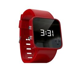 AIDS Watch from - the purchase of this slick, mirrored LED Watch provides funding for one month of treatment for a child suffering from HIV/AIDS - if only all purchases were this altruistic! High Class Fashion, Led Watch, Mens Gear, Digital Alarm Clock, Digital Watch, Tech Accessories, Charity, Watches, Face