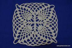 Free Crochet Pattern : Pineapple Crochet Motif